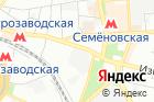 Сауна наметро Семёновская на карте