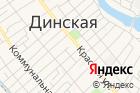 Управление социальной защиты населения Динского района, Министерство социального развития исемейной политики Краснодарского края на карте