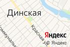 УФМС, Отдел Управления Федеральной миграционной службы поКраснодарскому краю вДинском районе на карте