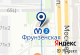 «Станция Фрунзенская» на Яндекс карте Санкт-Петербурга
