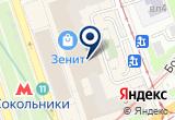«Велосити, торговая компания» на Яндекс карте Москвы
