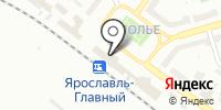 Вокзал Ярославль-Главный на карте