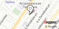 Астраханский на карте