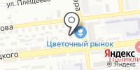 Цветочный рынок на карте