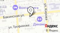 Начин-Астрахань на карте