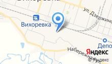 Вихоревка на карте