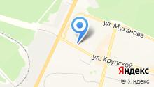 Гастроном на ул. Крупской на карте