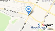Братский лесхоз, ОГАУ на карте