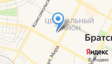Архивный отдел организационно-контрольного управления Администрации г. Братска на карте