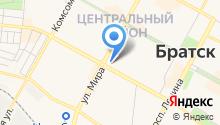 Братск-Иркутск на карте