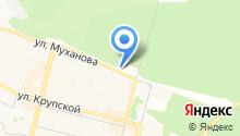 Автостоянка на ул. Муханова на карте