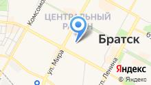 Братский экспресс на карте
