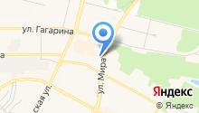 Автостоянка на ул. Гагарина на карте