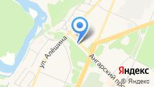Автостоянка на ул. Алёшина на карте