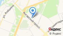 Ангарское агентство воздушных сообщений и туризма на карте
