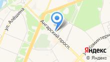 Ангарское агентство воздушных сообщений на карте
