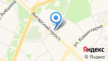 Ангарский проспект на карте