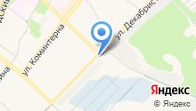 Автостоянка на ул. Декабристов на карте