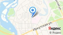 Ангарское автохозяйство здравоохранения, ОГБУ на карте