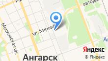 Ангарский трамвай, МУП на карте