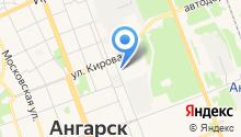 Ангарский трамвай на карте
