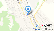 Мегетский на карте