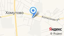 Хомутовское на карте