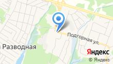 Магазин фруктов и овощей на ул. Молодежный пос на карте