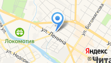 Новопроточный на карте