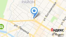 Автостоянка на ул. Бабушкина на карте