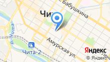 Центр обеспечения деятельности ГО и пожарной безопасности Забайкальского края на карте