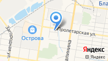 Автокомплекс на Высокой на карте