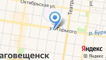 28 Регион-город Благовещенск на карте