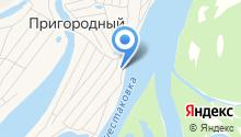 Пляжный на карте