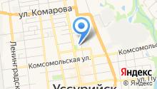Федерация черлидинга и современных спортивных танцев Уссурийского городского округа на карте
