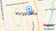 Административно-хозяйственное управление г. Уссурийска на карте