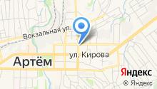 Центр занятости населения г. Артема на карте