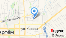 Артемовская топографо-геодезическая экспедиция на карте