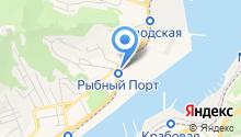 В рыбном порту на карте