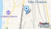 Автомойка на Краснореченской на карте