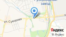 Автомойка на ул. Суворова на карте