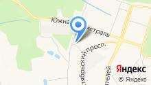 Автостоянка на Октябрьском проспекте на карте