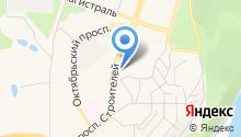 Магазин промышленных товаров на проспекте Строителей на карте