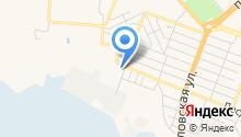 Автостоянка на ул. Гамарника на карте