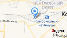 Ведомственная охрана железнодорожного транспорта РФ на карте