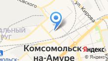Управление по делам ГО и ЧС Администрации г. Комсомольска-на-Амуре на карте