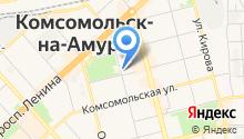 Военная комендатура г. Комсомольска-на-Амуре на карте