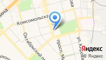 Автостоянка на проспекте Мира на карте