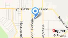 Гламурный на карте