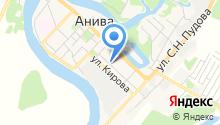 Управление пенсионного фонда РФ в г. Аниве на карте